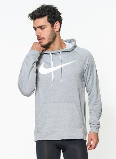 Nike Baskılı Kapüşonlu Spor Sweatshirt Siyah